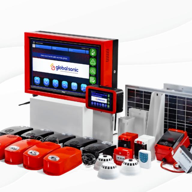 Sistema inteligente de alarme de incêndio wireless