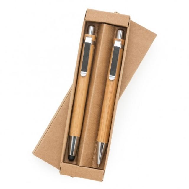 Kit Ecológico Caneta e Lapiseira Bambu AV13796