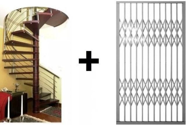 Projeto Para Fabricação Portas Pantográficas + Projeto Escadas Caracol