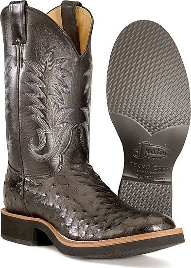 Bota Justin full quill ostrich cowboy boots