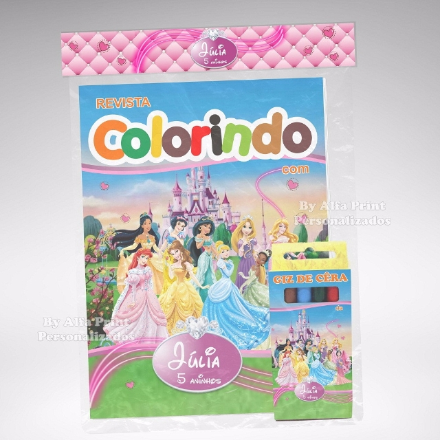 Kit Colorir Princesas Disney + Brindes