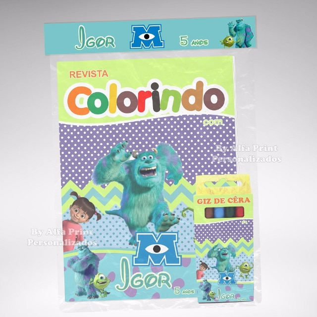 Kit Colorir Monstros SA + Brindes