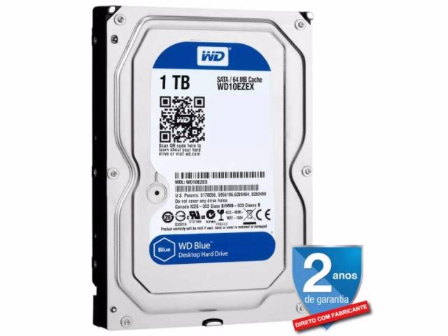 Hd Wd 1tb Sata desktop 7200 64mb 3,5 Western Digital Blue WD10EZEX