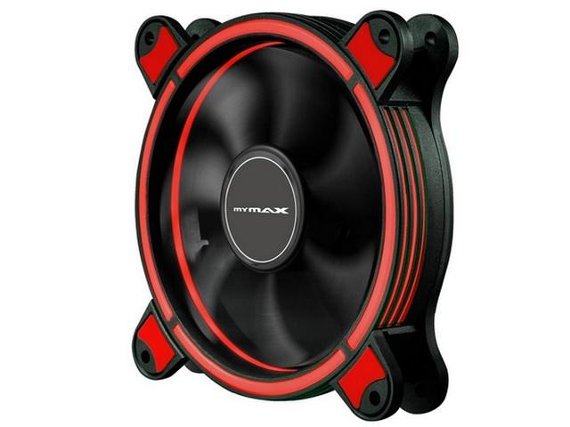Cooler Fan Gabinete 120mm Mymax Ring Spectrum Vermelho