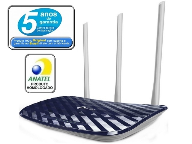 Roteador Tplink Wireless Dual Band 750Mbps Archer C20 3 Antenas Ver.4.0