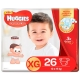 HUGGIES SUPREME CARE TAM. XG COM 26 UNIDADES