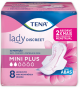 TENA LADY DISCREET MINI PLUS COM 8 UNIDADES