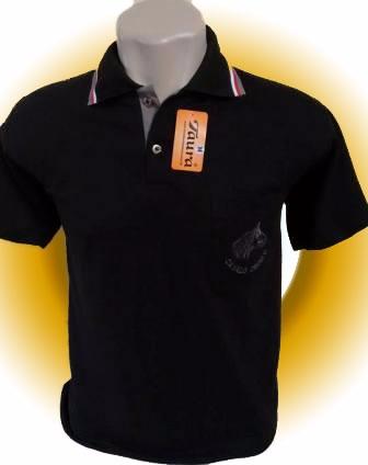 Camiseta Pólo, Malha Piquê Bordada