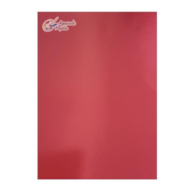 Papel Lamicote Vermelho A4 240 gr - 10 Folhas