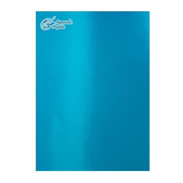 Papel Lamicote Azul A4 240 gr - 10 Folhas