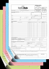 NF - Modelo 1 - 4 vias (MEI ou ME) - 02 talões - ANTES DE EFETUAR SUA COMPRA, CONSULTE INFORMAÇÕES.
