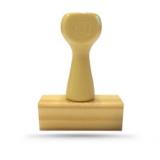 Carimbo de Madeira - 10x3,9 cm - Personalizado