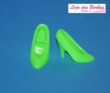 Sapatinho Clássico Para Barbie : *Scarpin Básico* (Verde Limão)