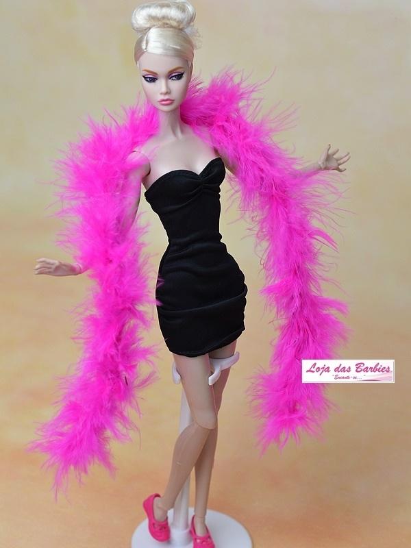 Estola De Plumas FASHION Para Barbie (Pink)