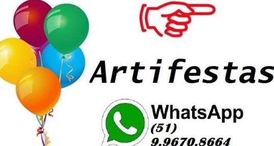 ARTIFESTAS TUDO DE BOM PARA SUA FESTA / TEMOS PREÇO BOM, VARIEDADE E ÓTIMO ATENDIMENTO