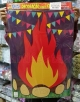Painel Decorativo mod. FOGUEIRA ref. 582 com 1 peça destacável em Papel Cartonagem