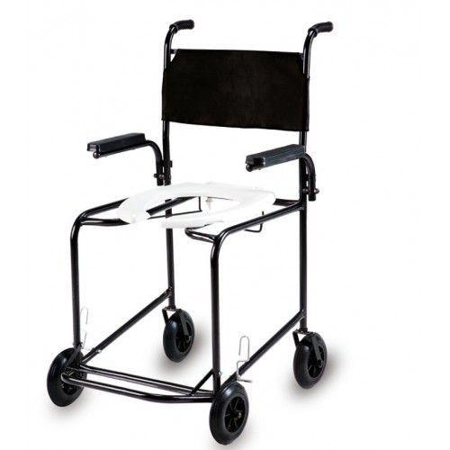 Cadeira de banho simples com braço escamoteável