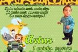 100 Convites Infantis Personalizados Com Foto
