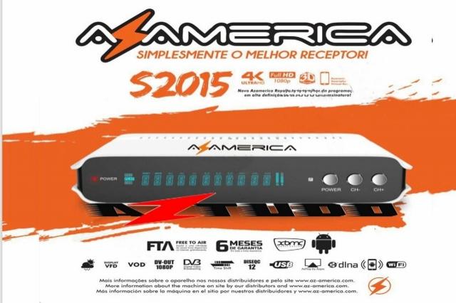 Receptor Azamerica S2015 Android 7.0 4K - Frete Gr