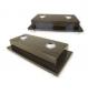 Kit de Base de madeira revestimento laminado com 2 furos e 2 Mastros de alumínio 2,10m