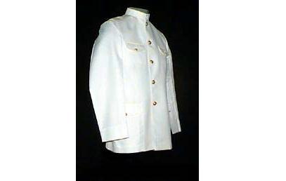 Dolmã Panamá Branco com Botões Dourados, com Calça, masculino