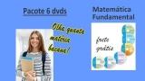 PACOTE 6 dvds Matemática Fundamental com aulas exclusivas e abertas(com 20% desconto)
