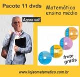 PACOTE 10 dvds Matemática Ensino Médio     (com 25% desconto)