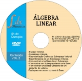 Dvd Álgebra Linear -VOL.2 com 30min de aulas exclusivas e 4h30min de  aulas abertas
