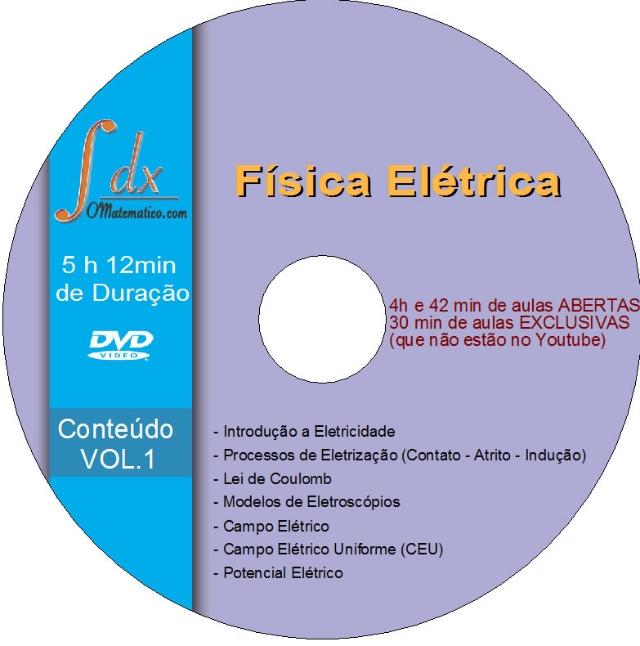 Dvd Física - Elétrica Vol.1 com 30min aulas exclusivas e 4h42min aulas abertas