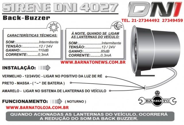 SIRENE DE RE 12/24V SOM INTERMITENTE 2 INTENSIDADE 0125422423