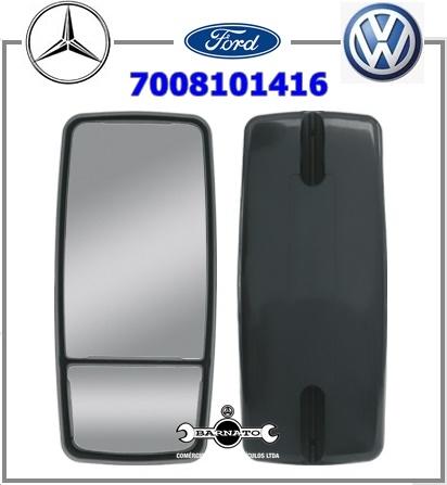 ESPELHO RETROVISOR S/DES FORD/MB/VW BIFOCAL PLANO  7008101416