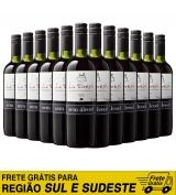 Kit com 12 garrafas do vinho tinto seco sem álcool