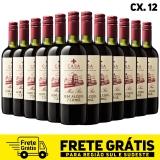 Kit com 12 garrafas do vinho meio seco Casa Navaronne sem álcool