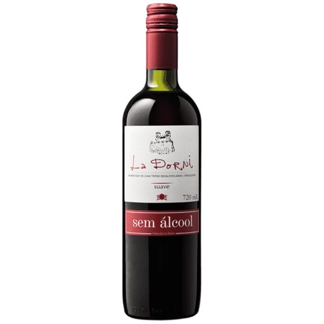 Vinho La Dorni tinto suave sem álcool 720 mL