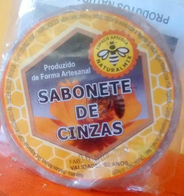 SABONETE DE CINZAS VEGANO