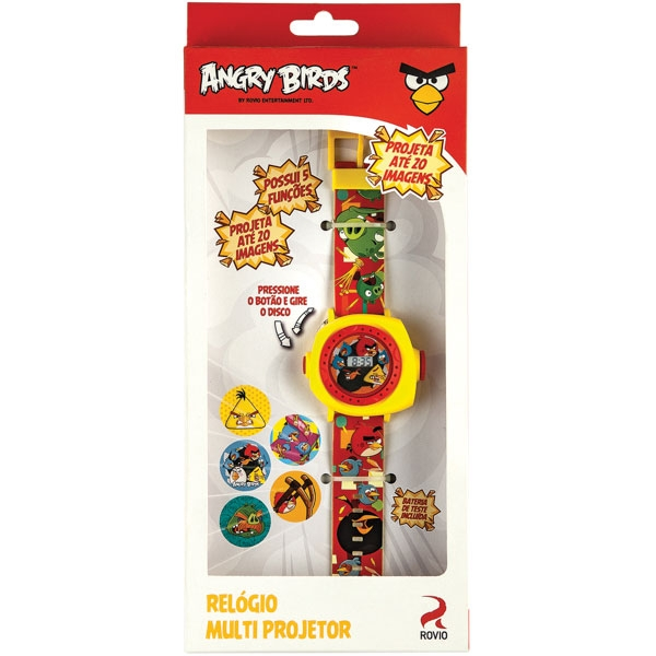 Angry Birds Relógio Multi Projetor - Fun Divirta-s
