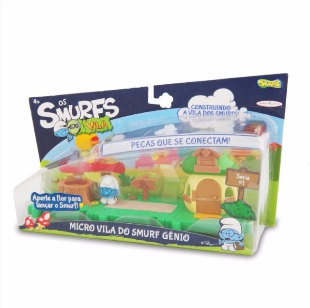 773 Smurfs Micro Vila Casa Do Smurf Gênio