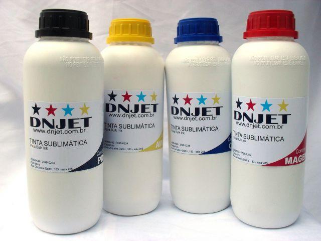 Kit 4 litros Tinta Sublimática 1 litro cada cor