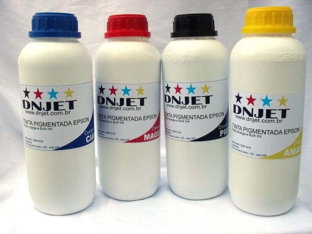 Kit 4 litros Tinta Pigmentada EPSON DN JET