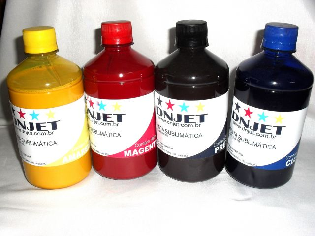 KIT 2 LITROS TINTA SUBLIMATICA 500ml CADA COR