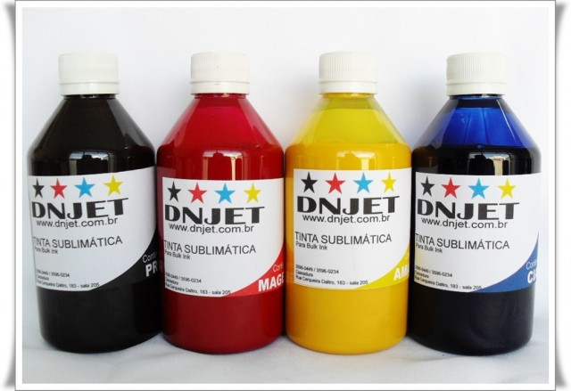 Kit 1 litro Tinta Sublimática 250ml cada cor.