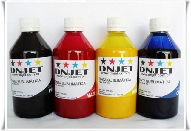 Kit 1 litro Tinta Sublimática 250ml cada cor. PROMOÇÃO