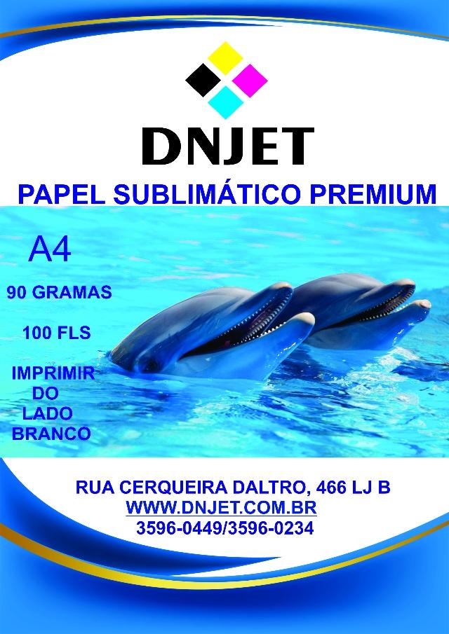 PAPEL SUBLIMATICO RESINADO GOLD FUNDO AMARELO A4 COM 100 FLS