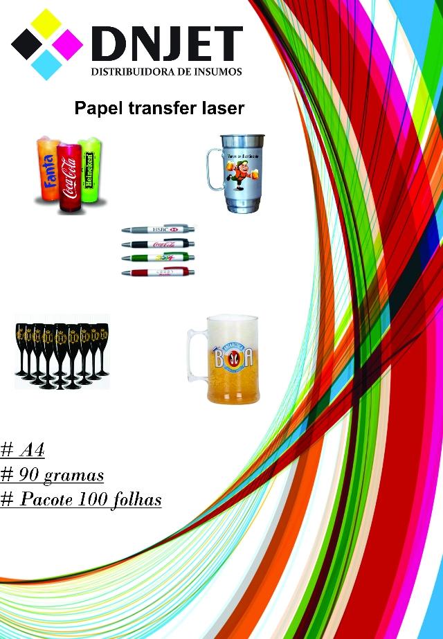 Papel transfer laser 90 gramas com 100 folhas