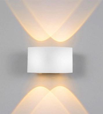 Arandela LED 12W Facho Duplo 4 LEDs Bivolt Branco Quente 3000K