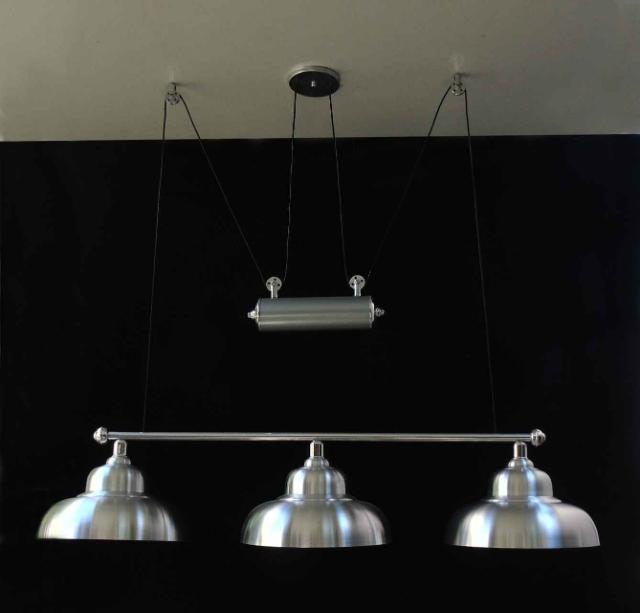 Luminária Para Mesa De Sinuca Com 1,20m Com Regulagem De Altura