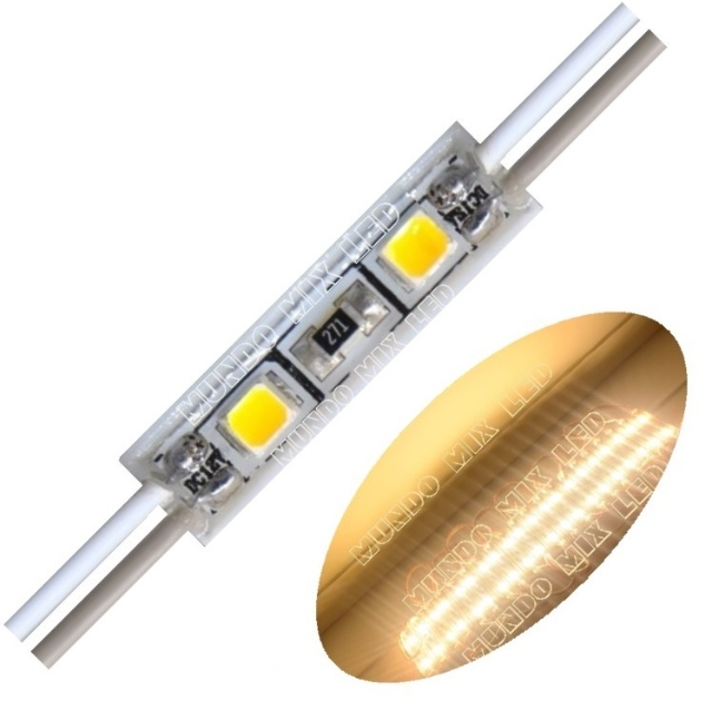 Mini Módulo de Led 12v Ip65 2835 2-leds Quente 3000k 2,6cm?cache=2019-05-13