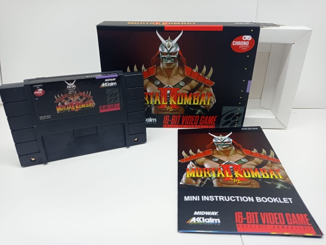 Mortal Kombat II e 1/2 P/ Super Nintendo Repro