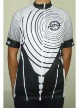 Camiseta Ciclista Branca/Preta KMZ