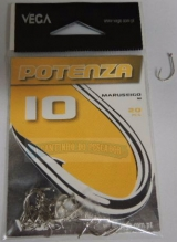 Anzol Potenza Maruseigo Nickel no. 10 cartela c/20